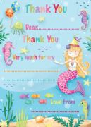 Mermaid Thank You Sheets Pack of 20
